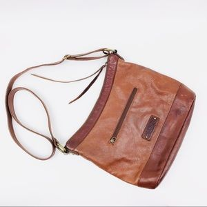 Lucky Brand Leather Boho Adjustable Strap Purse